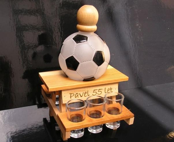 Dárkové láhve a sklo | fotbal
