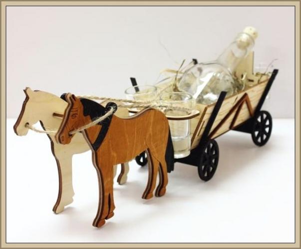 Dárkové láhve, sklo, alkohol, kůň | dárkové balení lihovin