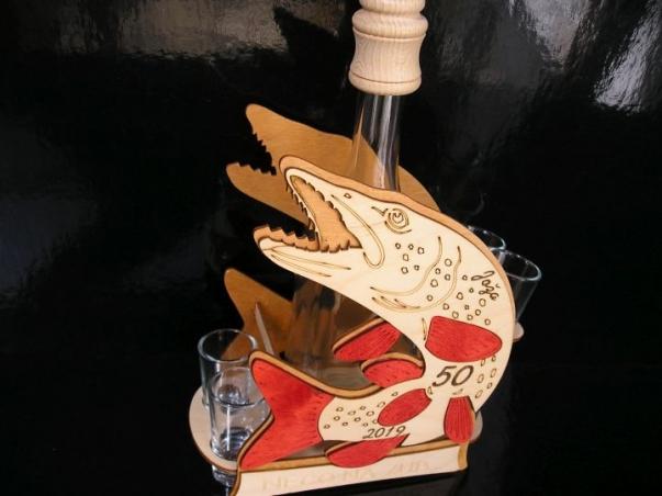 Dárková láhev na alkohol pro rybáře