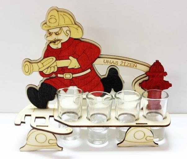 Dárkové sklo | hasič | požárník | stříkačka