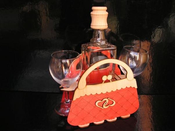 Dárek dámská kabelka | dárkový koš pro ženu