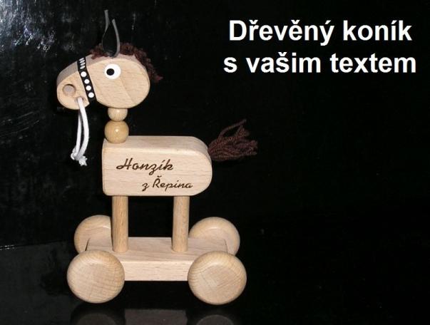 Dřevěný kůň, koník, koníček, hračka pro děti