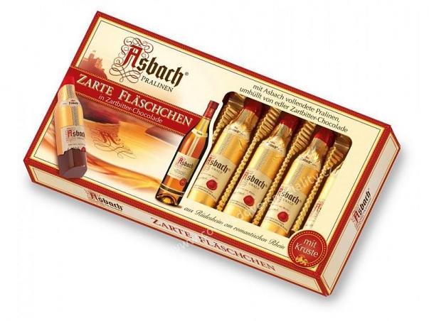Německé pralinky ASBACH lahvičky s originál BRANDY
