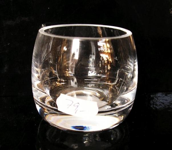 Sklo na svíčku, svícen čiré sklo