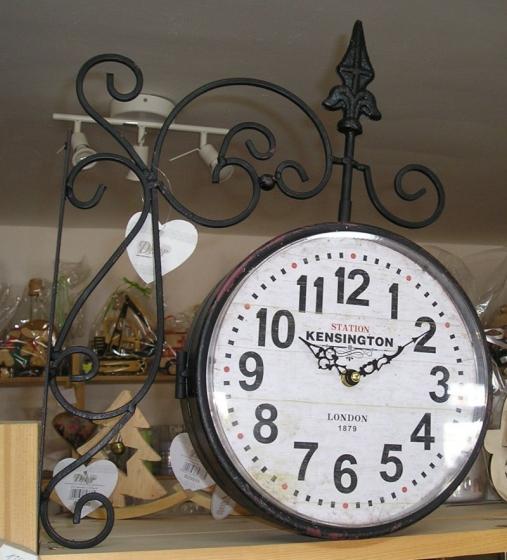 Londýnské černé hodiny Kensington - oboustranné