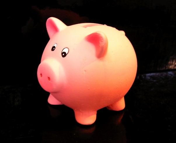 Pokladnička růžové prasátko, keramika