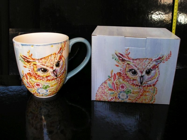 Obrovský 0,8 L hrnek na kávu, čaj SOVA