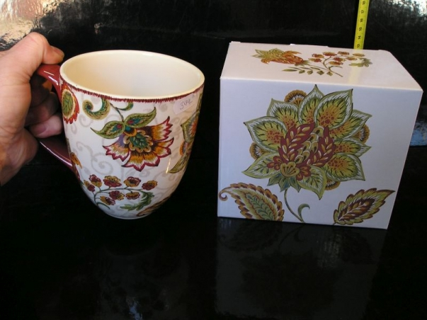 Velký hrnek na čaj s krabičkou, bytové dekorace