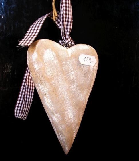 Dřevěné srdíčeko, srdce, závěsná dekorace