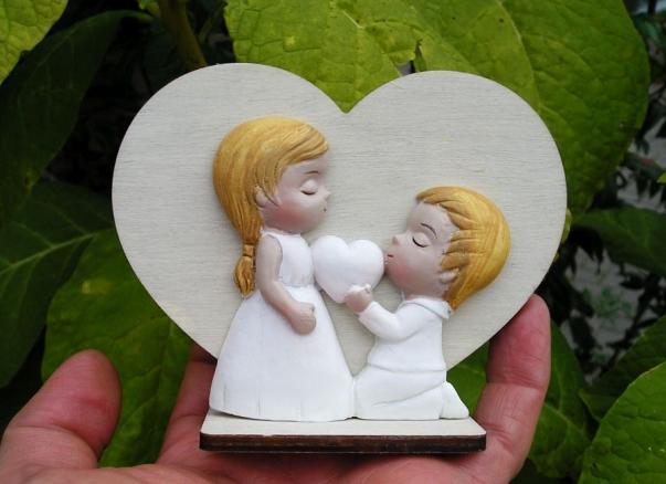 Dřevěné srdce z lásky, dekorace dárek