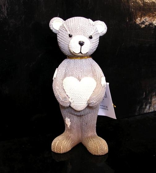 Figurka medvídek se srdcem, dekorace