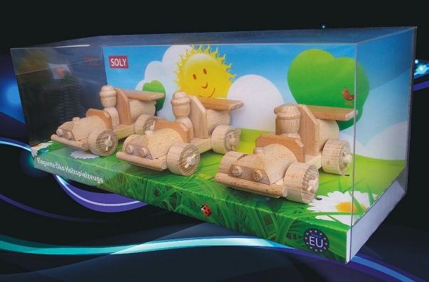 Nejlepší dřevěné hračky, autíčko 3x