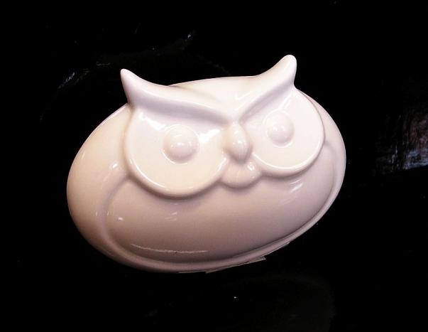 Výr, sova bílá dekorace, figurka dárek