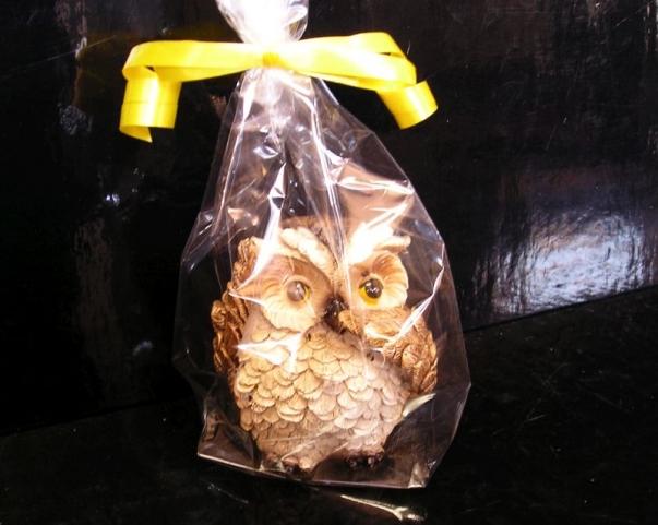 Figurka sova výr, dekorace dárek