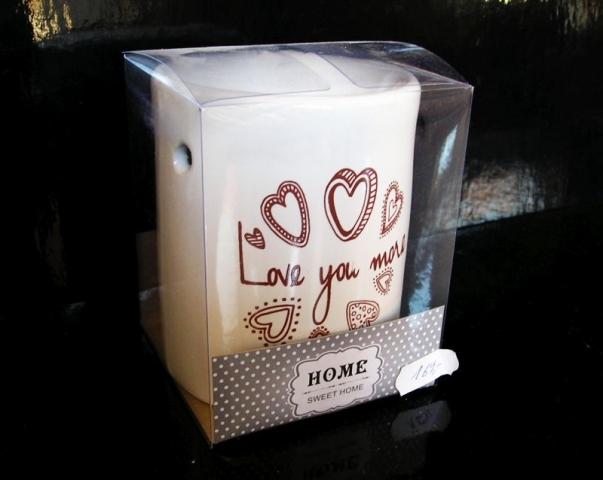 Keramická bílá aromalampa HOME