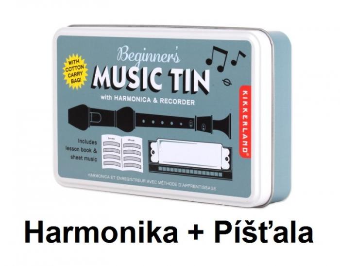 Hudební sada dětská píšťalka a foukací harmonika