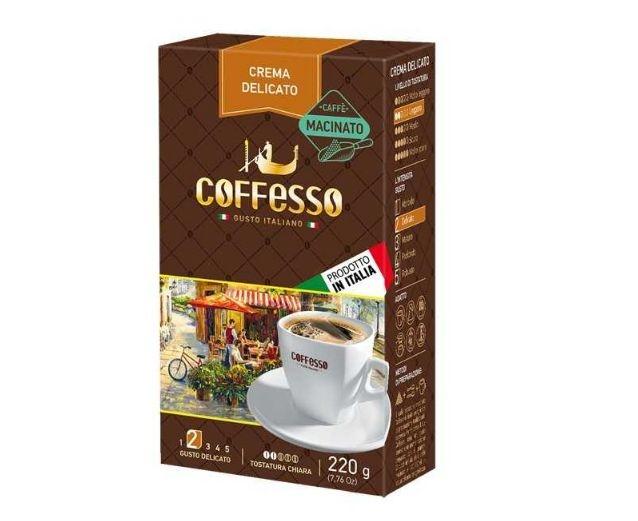Luxusnímletá  krémová káva delicato, italská