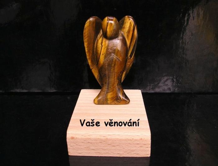 Minerální kámen Anděl tygří oko dárek