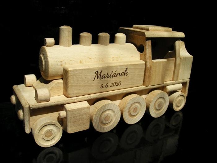 Hracka dárek lokomotiva vláček DR 26 cm