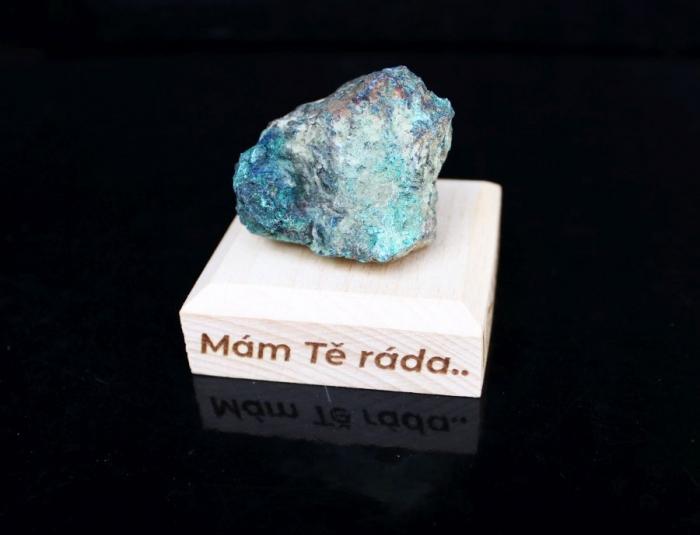 Malachit chrystochol surový minerál