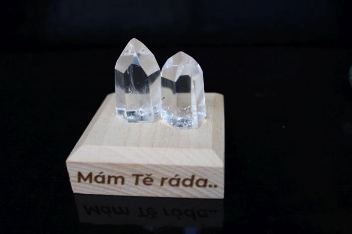 Křišťálové špice broušené kameny