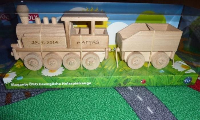 Lokomotiva parní vláček hračka