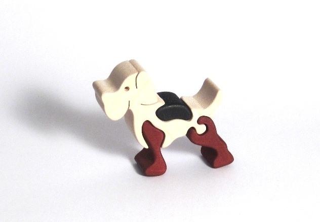 Didaktická stavebnice dřevěné puzzle pejsek