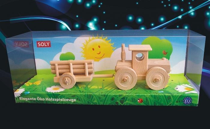 Lesní traktor s vlečkou