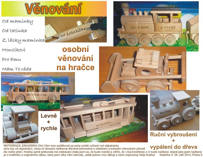 Trolejbus - dřevěné hračky