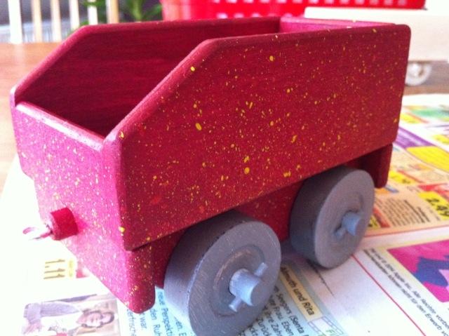 Uhlák k lokomotivě, hračky