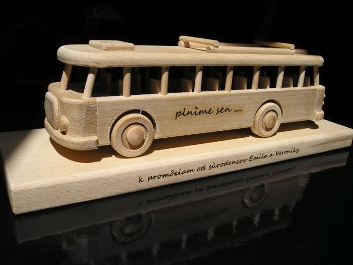 Autobus dárek pro řidiče k narozeninám