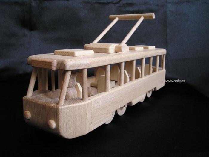 Tramvaj TATRA dřevěná hračka