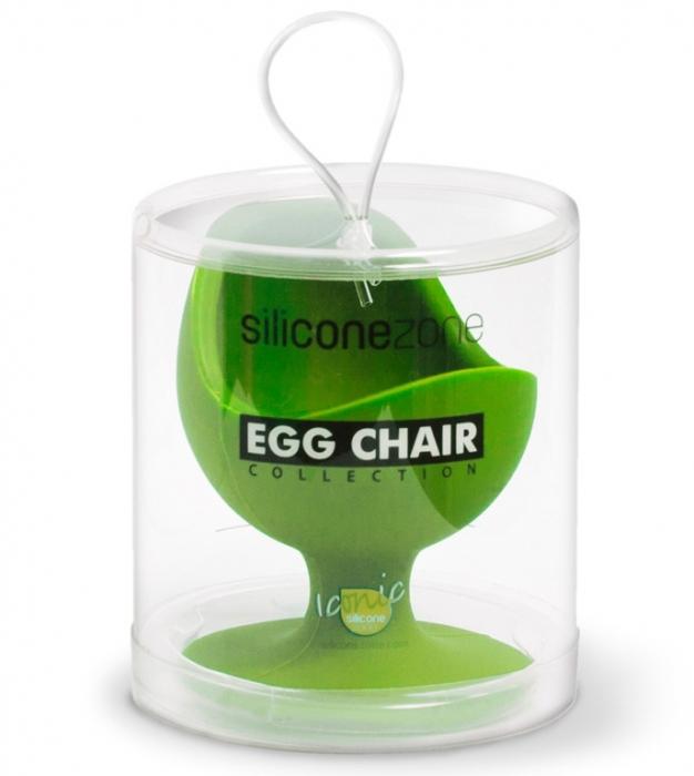 Stojánek na vejce s přísavkou - zelený