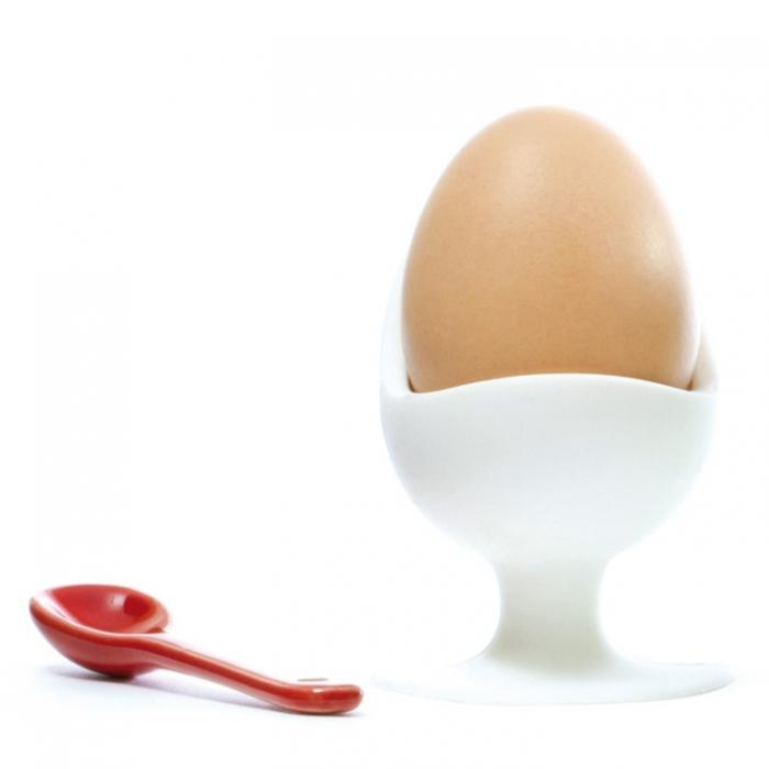 Silikonový stojánek na vajíčko s přísavkou - bílý