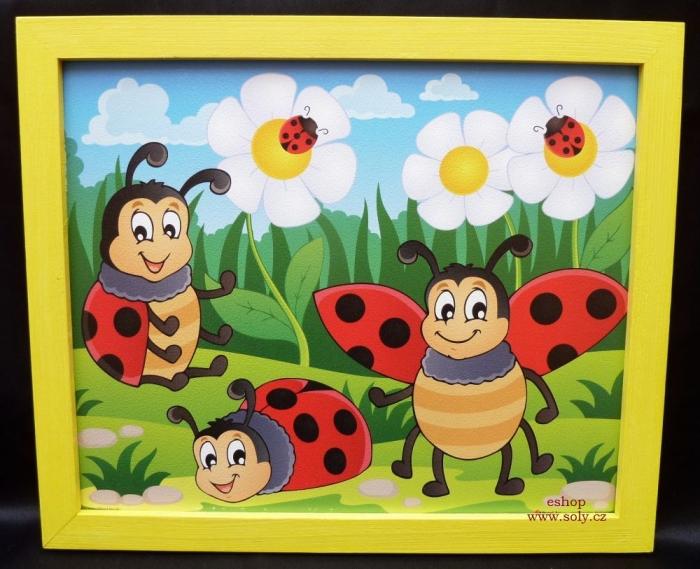 detské obrázky na stenu malovane beruška slunéčko sedmitečné