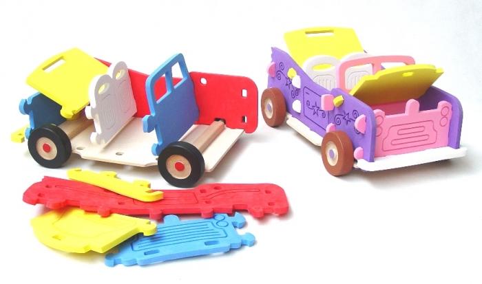 Pěnová hračka,  kabriolet pro holčičky