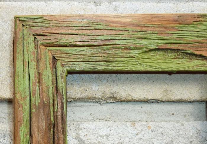 Retro fotorámeček ze dřeva zelená
