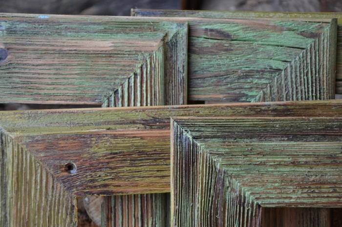 Retro fotorámeček ze dřeva