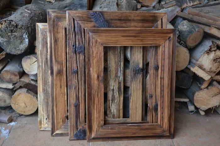 Dřevěný fotorám