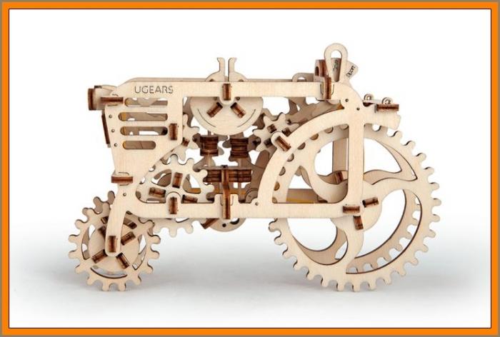 Traktor dřevěné puzzle