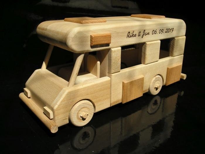 Karavan svatební dárek, dřevěné dárky