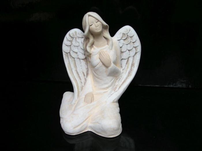 Bílý andělé sádrové sošky, dárek pro ženu k narozeninám