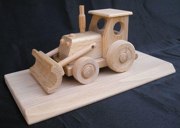 dřevěný Traktor hračka dárek pro řidiče