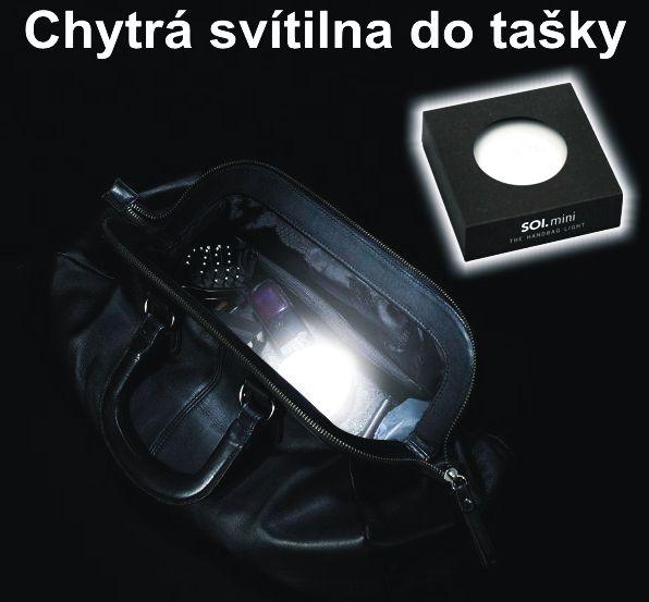 Inteligentní svítilna do dámské tašky