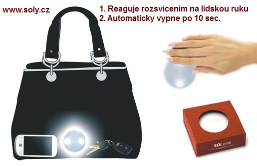 svítilna v kabelce