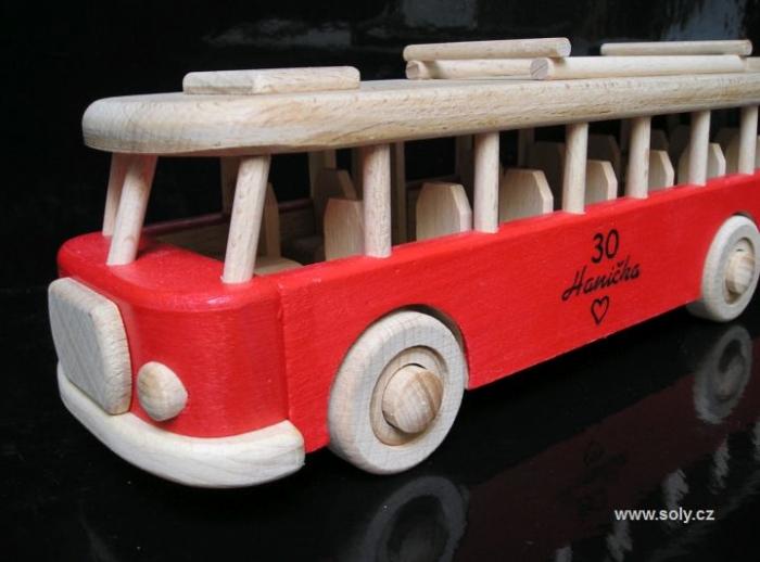 Autobus dárek s potiskem, vypálením