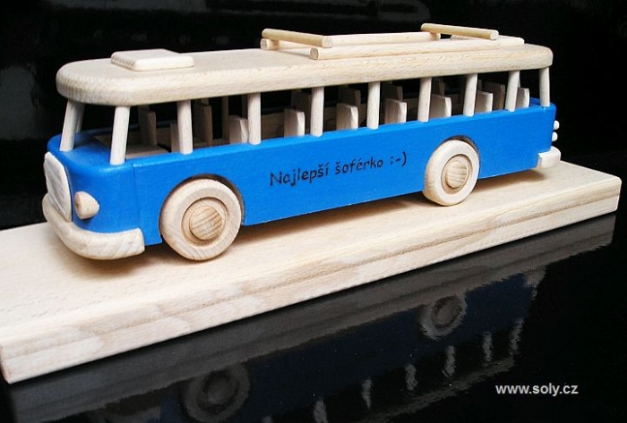 Autobusové dárky s textem