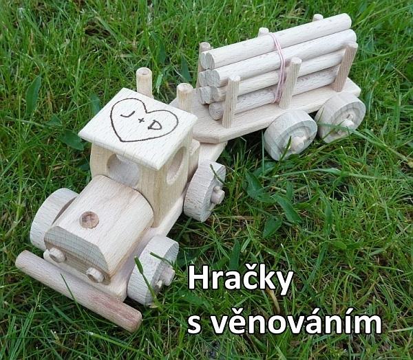 Dřevěné nákladní autíčko pro děti, hračky