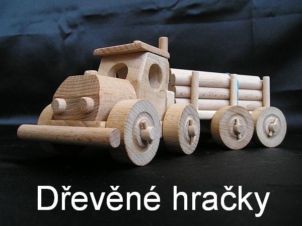 Dřevěné nákladní autíčka pro děti, hračky