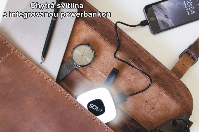Chytrá svítilna pro muže s integrovanou powerbankou